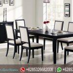 Set Meja Makan Minimalis Modern Jok Putih MM-036