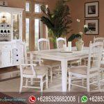 Set Meja Makan Minimalis Putih Terbaru MM-038