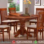 Set Meja Makan Bundar Jati Jepara MM-041
