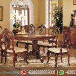 Meja Kursi Makan Set Jepara Klasik Terbaru MM-062