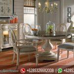 Set Meja Kursi Makan Oval Jepara Terbaru Putih MM-065