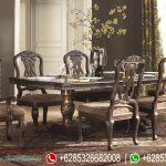 Meja Kursi Makan Set Jepara Klasik Terbaru MM-067