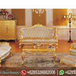 Meja Kursi Sofa Ruang Tamu Set Mewah Terbaru French Series SRT-007