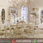 Set Meja Makan Jepara Putih Mewah Terbaru European Style MM-160
