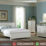Tempat Tidur Set Minimalis Duco Putih Terbaru KT-057