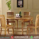 Meja Makan Set Minimalis Meja Bulat Murah Terbaru MM-145