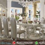 Set Meja Kursi Makan Mewah Murah Ukiran Terbaru Acme Versailles MM-154
