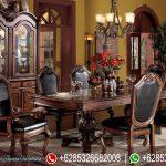 Meja Kursi Makan Set Jepara Klasik Terbaru England Style MM-163