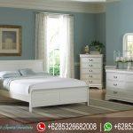 Tempat Tidur Minimalis Putih Set Mebel Jepara Terbaru KT-070