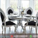 Meja Makan Mewah Ukir Silver Terbaru MM-182