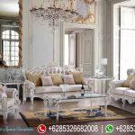 Sofa Tamu Set Klasik Putih Mewah Terbaru SRT-077