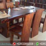 Meja Kursi Makan Set Jepara Trembesi Terbaru MM-082