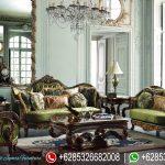 Set Kursi Sofa Tamu Victorian Jati Klasik Natural Ukiran Mebel Jepara Mewah Terbaru SRT-131