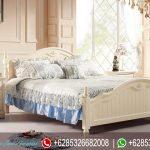 Tempat Tidur Minimalis Modern Set Mebel Jepara Putih Mewah Terbaru KT-134