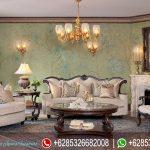 Kursi Sofa Ruang Tamu Set Natural Jati Klasik Modern Mewah Terbaru SRT-152