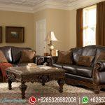 Set Kursi Sofa Tamu Natural Jati Klasik Ukir Jepara Mewah Terbaru Corona SRT-141
