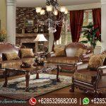 Set Sofa Tamu Mewah Klasik Jati Natural Victorian Terbaru SRT-156