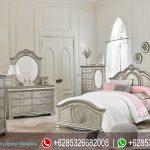 Tempat Tidur Set Mewah Klasik Modern Jessica Silver Terbaru KT-176