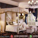 Set Kamar Tidur Pengantin Model Kanopi Ukiran Klasik Mewah Terbaru Royal Palace KT-198