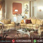 Set Kursi Sofa Tamu Mewah Klasik Duco Mebel Jepara Terbaru Italian Style SRT-163