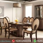 Meja Makan Jati Oval Minimalis Klasik Modern Mewah Terbaru Travolo MM-250