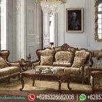 Set Kursi Sofa Tamu Klasik Modern Natural Jati Mebel Jepara Mewah Terbaru Victorian Style SRT-189