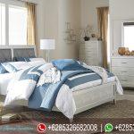 Tempat Tidur Minimalis Modern Duco Putih Mebel Jepara Terbaru Olive KT-182