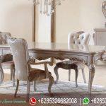 Meja Kursi Makan Set Klasik Ukiran Mebel Jepara Mewah Terbaru Safir MM-0295