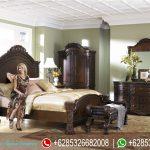 Set Kamar Tidur Jati Natural Klasik Modern Mewah Terbaru Astoria JK-209