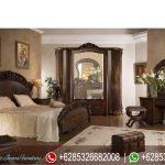 Set Kamar Tidur Mewah Jati Klasik Modern Ukiran Mebel Jepara Terbaru Allegro Series KT-205