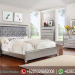 Set Kamar Tidur Minimalis Modern Kayu Jati Mewah Terbaru Bling Bling KT-214