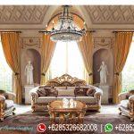 Set Kursi Ruang Tamu Ukiran Klasik Mebel Jepara Duco Emas Mewah Terbaru Empire Palace SRT-217