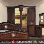 Set Tempat Tidur Mewah Jati Klasik Modern Ukiran Jepara Murah Terbaru Azalea KT-211