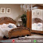 Tempat Tidur Mewah Set Klasik Modern Jati Natural Murah Terbaru Allegro Series KT-206