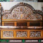 Tempat Tidur Peluru Mawar Jati DP-006