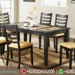 Meja Kursi Makan Set Minimalis Jepara Terbaru MM-052