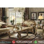 Sofa Tamu Ukiran Mewah Terbaru European Style SRT-049