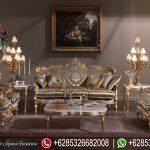 Sofa Tamu Mewah Klasik Emas Terbaru SRT-075