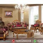 Set Sofa Tamu Ukir Klasik Mewah Terbaru Gold SRT-080