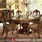 Meja Makan Set Jepara Klasik Murah Terbaru Chandelier MM-123
