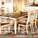 Meja Kursi Makan Set  Jepara Mewah Terbaru French Style MM-120