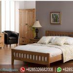 Set Tempat Tidur Jati Minimalis Mebel Jepara Murah Terbaru American Style KT-076