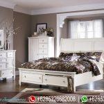 Set Tempat Tidur Minimalis Modern Marchella Putih Mewah Terbaru KT-130