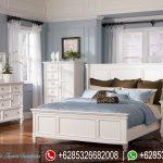 Tempat Tidur Set Minimalis Modern Putih Mewah Terbaru Ashley KT-128