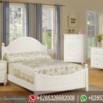 Tempat Tidur Set Minimalis Putih Mebel Jepara Mewah Terbaru KT-129