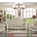 Kursi Sofa Ruang Tamu Set Victorian Klasik Putih Mewah Terbaru SRT-149