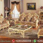 Set Sofa Tamu Klasik Ukiran Mebel Jepara Mewah Terbaru Italian Style SRT-155