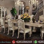 Meja Kursi Makan Set Modern Classic Zarrano Mewah Terbaru MM-246