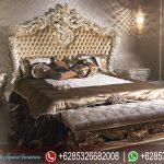 Set Tempat Tidur Mewah Klasik Duco Ukiran Mebel Jepara Terbaru Letto KT-193