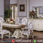 Set Meja Makan Oval Model Eropa Klasik Ukiran Jepara Mewah Terbaru Eliza MM-265